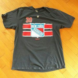 Reebok NY Ranger's Lundqvist Hockey T Shirt